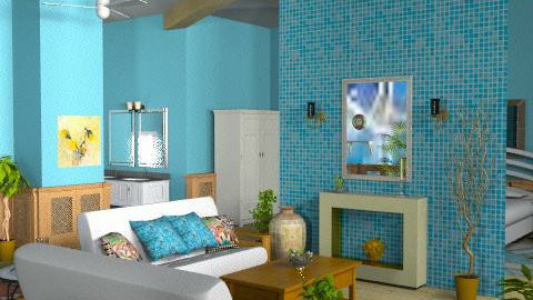 Tropical Breeze4 - Rustic - Living room  - by Bibiche