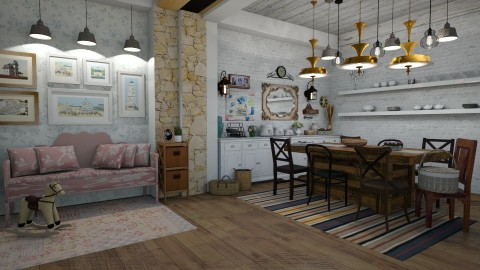 dining room - by Yana Baliashvili