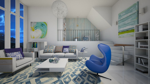 Summer Blues - Modern - Living room  - by janip