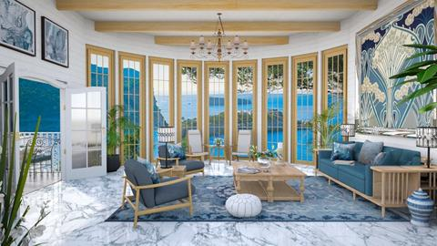 Design 504 Mediterranean Blue - Dining room  - by Daisy320