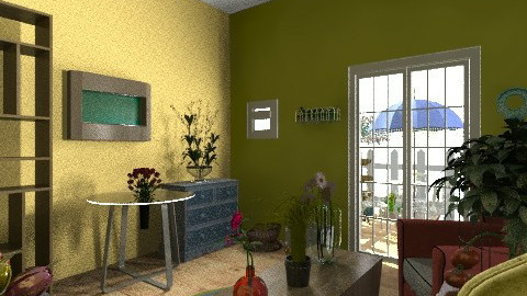 Green living room - Country - Living room - by jeushalumley
