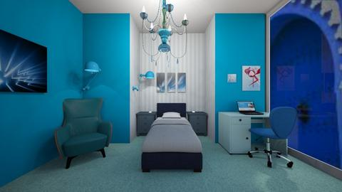 Blue room for contest - Modern - Bedroom  - by Pheebs09