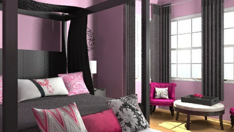 Pink - Glamour - Bedroom  - by jauxier2002