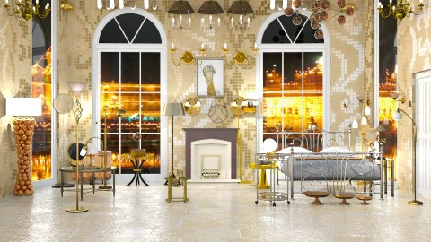 Brass - Modern - Bedroom  - by InteriorDesigner111