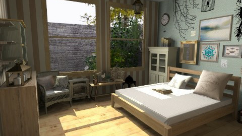 forest - Rustic - Bedroom  - by okaaa