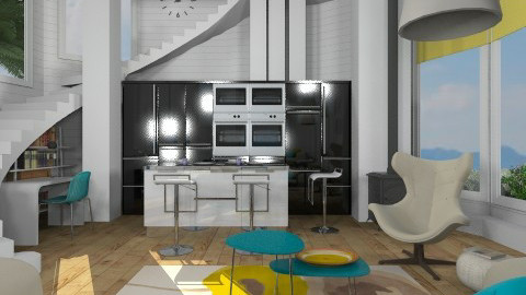 Lighthouse RR - Modern - Living room  - by liling