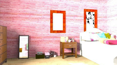 MAH ROOM - Retro - Bedroom  - by PurpleMousie