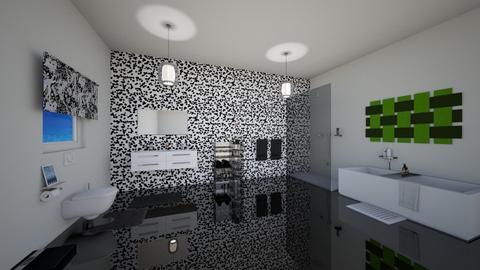 Black and white bathroom - Bathroom  - by kwanda01