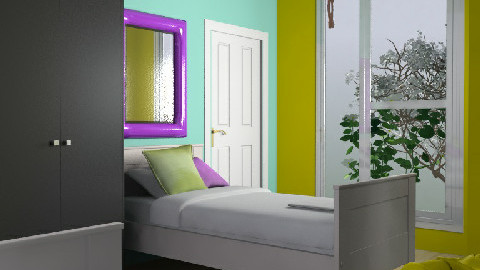 Erin and Sarah's room - Modern - Bedroom - by kashie13