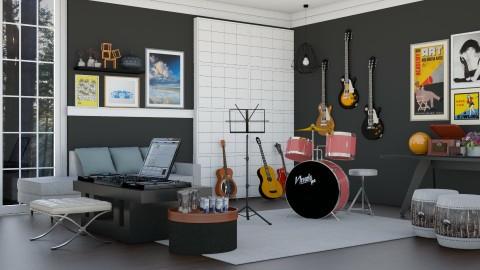 Music Room for Divertone - Modern - by ayudewi