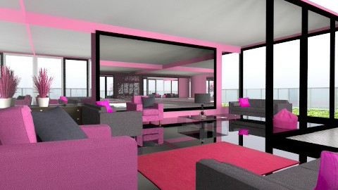 Very Pink - Eclectic - Living room  - by Wozniazailia