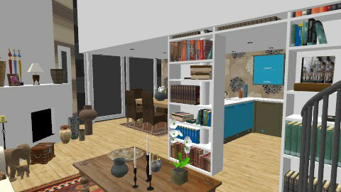 Etnic live - Vintage - Living room  - by camidome