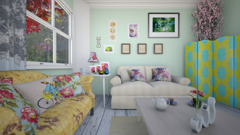 its raining outside - Eclectic - Living room  - by donella