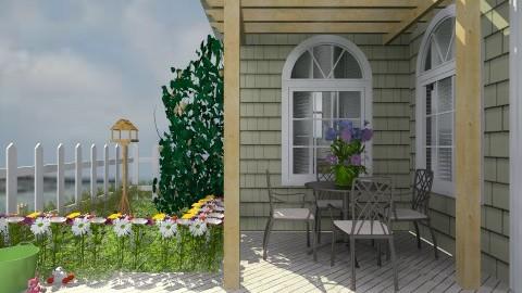 NewEnglandBeachHouse - Country - Garden  - by PomBom