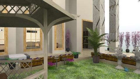 backyard garden - Modern - Garden  - by Ulie