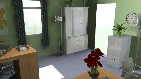 Office with painted walls - Classic - Office  - by greengaloshes