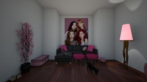 black pink - Living room  - by IwboMar04