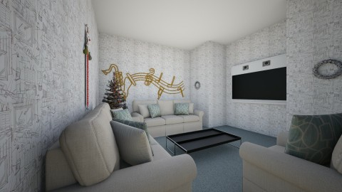 Christmas living room - Modern - Living room - by callumip9