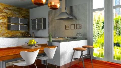 kitchen bronze - Modern - Kitchen  - by sahfs