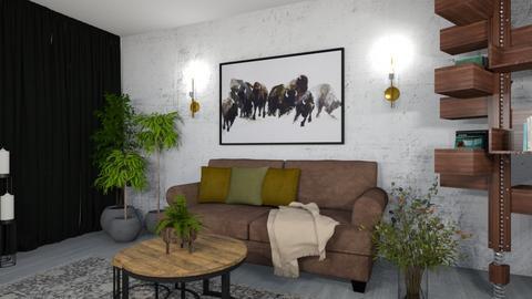 old man room - Masculine - Living room  - by monek299