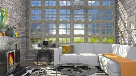 Rocky Mountain chateau sitting room - Eclectic - Living room  - by alleypea