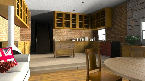 Rustic Cottage Kitchen - Rustic - Kitchen  - by derers_brown
