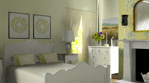 Country bedroom - Country - Bedroom  - by yasemin04