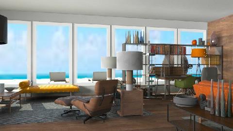 70 beech room - Retro - Living room  - by austinajk