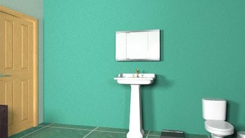 Green Bathroom - Classic - Bathroom  - by zombiepanda