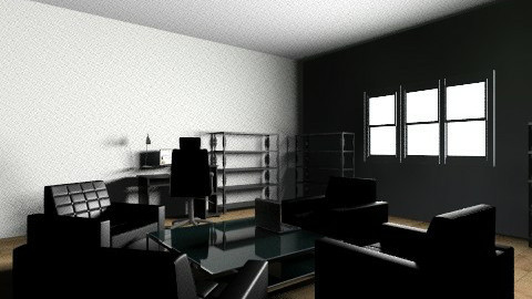 Modern black office - Modern - Office - by barfi2012