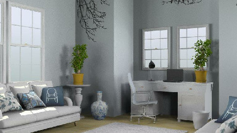 Blue room - Eclectic - Living room  - by karma kitten