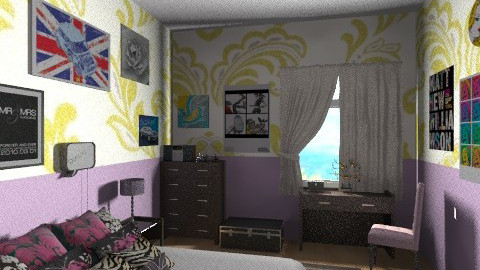 my dream room - Retro - Bedroom  - by tiffy2shoes