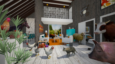 Barn Warming Party - Eclectic - Living room  - by Theadora