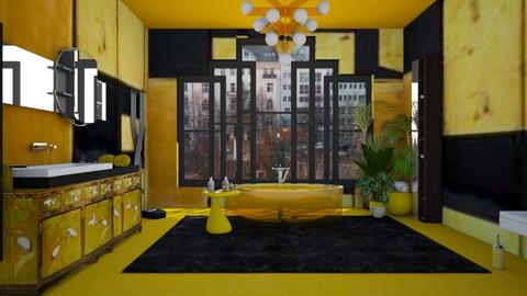 yellow bathroom - Eclectic - Bathroom - by kitty