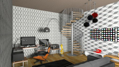 studio basement1s - Eclectic - Office  - by deedy saleh