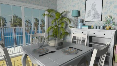 Summer Love - Vintage - Dining room  - by Ivana J