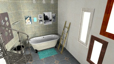 An ideal bathroom - Retro - Bathroom - by Akari Hiramoto