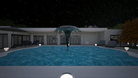 outdoor pool2 - Garden  - by lovasemoke
