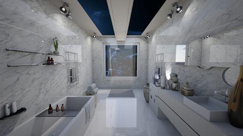 skylight bath - Modern - Bathroom  - by vallequeen