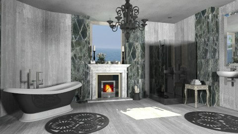Bathroom with fireplace - Classic - Bathroom - by XValidze