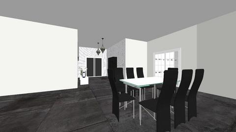 Black and white - Modern - Kitchen - by anaherawalkerr1