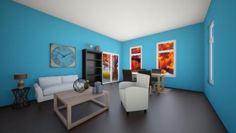 Living Room with Deck - Rustic - Living room  - by VibrantSplash