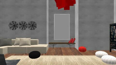 High - Minimal - Living room  - by Kaarina