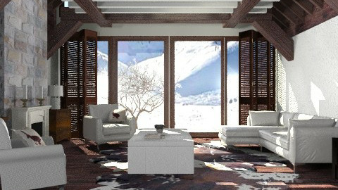 Log cabin - Modern - Living room  - by liling