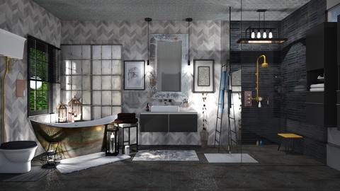 Industrial Bath - Bathroom  - by  krc60