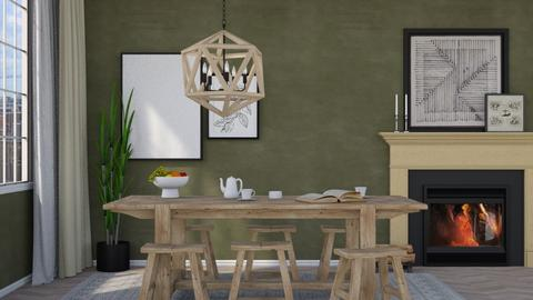 Modern Green - Modern - Dining room  - by HenkRetro1960