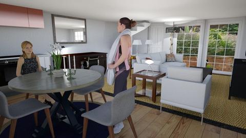 Fernhurst garage - Living room  - by samrogerson