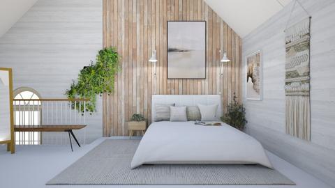 Attic bedroom - Minimal - Bedroom  - by Dragonets of Destiny