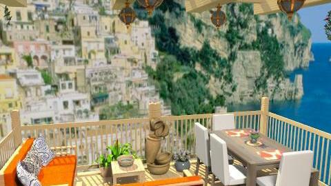 Wood balcony - Classic - Garden  - by Bibiche