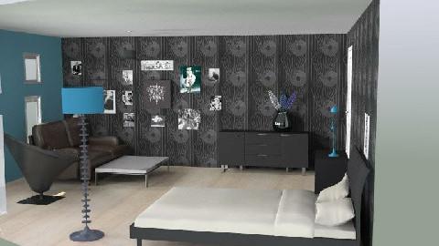 retro szoba - Retro - Bedroom  - by agicacica
